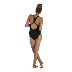 speedo Boom Logo Placement Flyback Swimsuit Women, black/light adriatic
